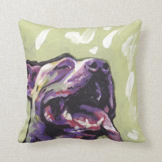 pit bull pitbull fun pop art throw pillow