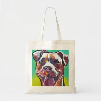 pit bull pitbull fun pop art tote bag