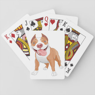 Pit Bull Playing Cards
