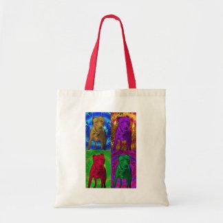 Pit Bull Pop Art in Various Colors Tote Bag