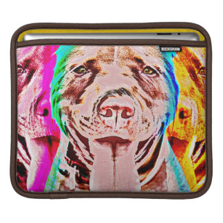 Pit Bull Pop Art Portrait, with Retro Style Colors Sleeve For iPads