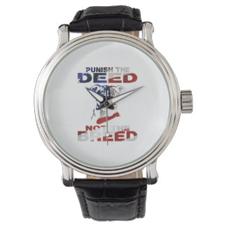 PIT BULL PUNISH THE DEED NOT THE BREED AF4 WRIST WATCHES