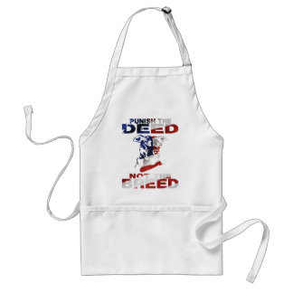 PIT BULL PUNISH THE DEED NOT THE BREED AF5 ADULT APRON