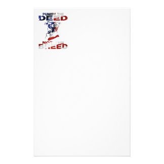 PIT BULL PUNISH THE DEED NOT THE BREED AF5 CUSTOMIZED STATIONERY