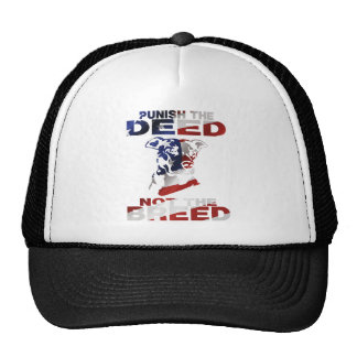 PIT BULL PUNISH THE DEED NOT THE BREED AF5 TRUCKER HAT
