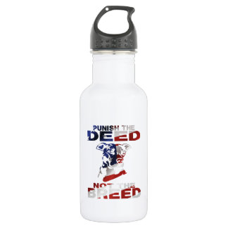 PIT BULL PUNISH THE DEED NOT THE BREED AF5 WATER BOTTLE