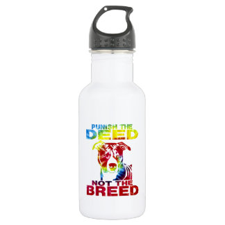 PIT BULL PUNISH THE DEED NOT THE BREED td3B Water Bottle
