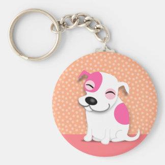 Pit Bull Puppy Keychain