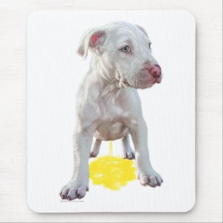 Pit Bull Puppy Piddles OOPS Mouse Pad