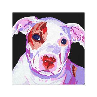 Pit Bull puppy Pop Art canvas