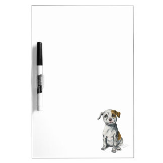 Pit Bull Puppy Sketch Drawing Dry-Erase Board