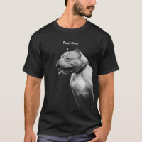 Pit Bull Real Dog Mens Tee Shirt