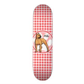 Pit Bull; Red and White Gingham Skateboard Decks