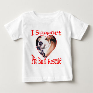 Pit bull Rescue Baby T-Shirt