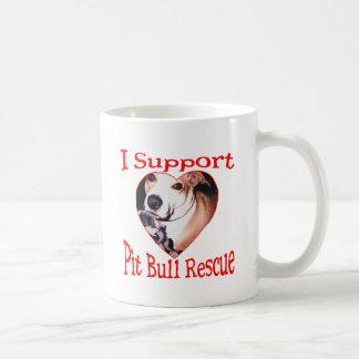 Pit bull Rescue Classic White Coffee Mug