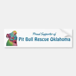 Pit Bull Rescue OklahomaBumper Sticker, Tie-Dye Bumper Sticker