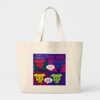 Pit Bull Rescue Pup Art Large Tote Bag