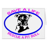 PIT BULL SAVE A LIFE CARDS