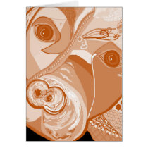 Pit Bull Sepia Tones Card
