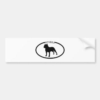 Pit Bull Silhouette Black Bumper Sticker Car Bumper Sticker