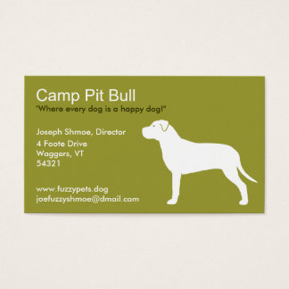 Pit Bull Silhouette Business Card