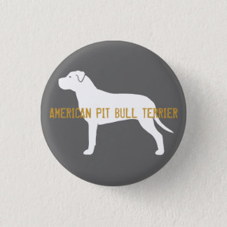 Pit Bull Silhouette Pinback Button