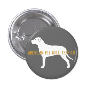 Pit Bull Silhouette Pinback Button