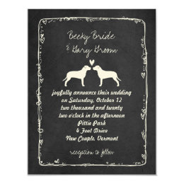 Pit Bull Silhouettes Wedding Announcement
