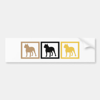 Pit Bull Squares Bumper Sticker