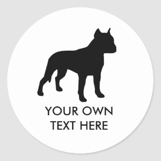 Pit Bull Round Stickers