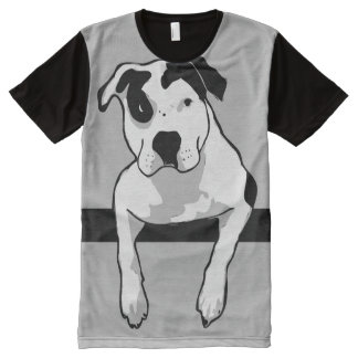 Pit Bull T-Bone Graphic All-Over-Print Shirt