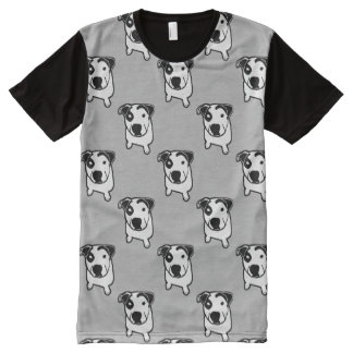 Pit Bull T-Bone Graphic All-Over-Print T-Shirt