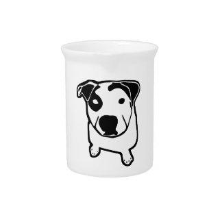 Pit Bull T-Bone Graphic Beverage Pitcher