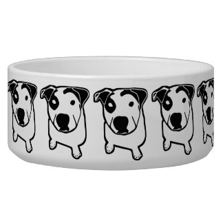 Pit Bull T-Bone Graphic Bowl