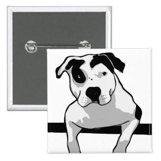 Pit Bull T-Bone Graphic Button