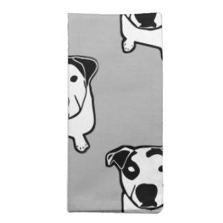 Pit Bull T-Bone Graphic Cloth Napkin