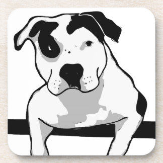 Pit Bull T-Bone Graphic Drink Coaster