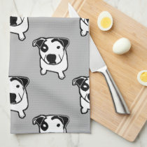Pit Bull T-Bone Graphic Kitchen Towel