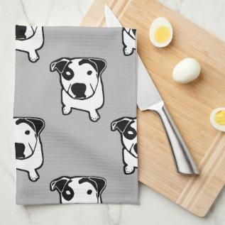 Pit Bull T-bone Graphic Kitchen Towel at Zazzle