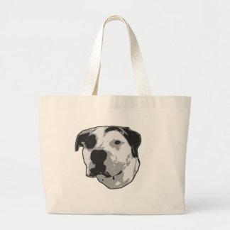 Pit Bull T-Bone Graphic Large Tote Bag