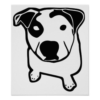 Pit Bull T-Bone Graphic Poster