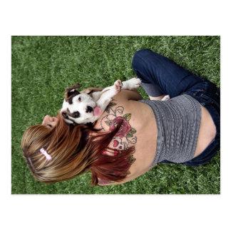 Pit Bull T-Bone Lucky Puppy Postcard