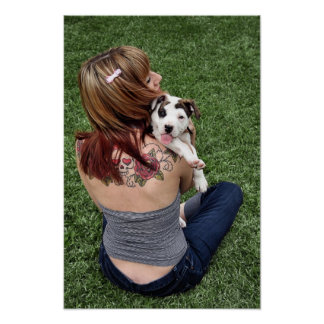 Pit Bull T-Bone Lucky Puppy Poster