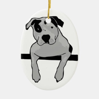 Pit Bull T-Bone Christmas Ornaments