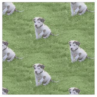 Pit Bull T-Bone Puppy Fabric