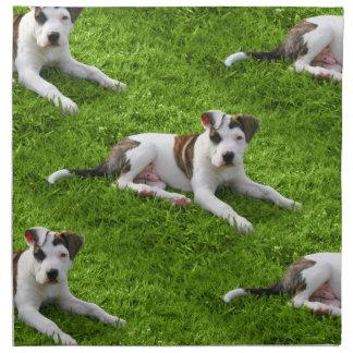Pit Bull T-Bone Puppy Napkin