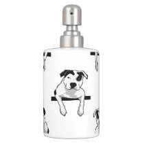 Pit Bull T-Bone Puppy Soap Dispenser & Toothbrush Holder
