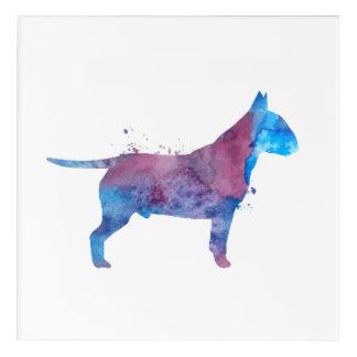 Pit bull terrier acrylic wall art
