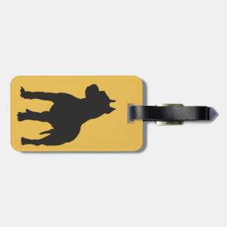 Pit Bull Terrier Black Silhouette Bag Tags
