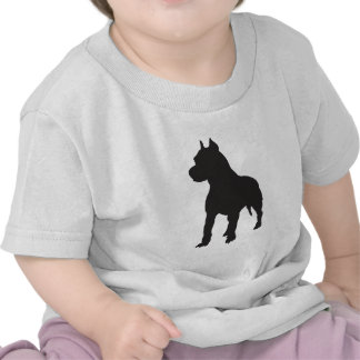 Pit Bull Terrier Black Silhouette Shirts